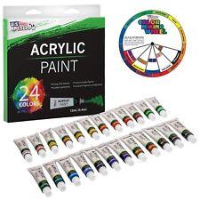 Professional 24 Color Art Acrylic Paint Set, 12ml Tubes, Artist Student Painting