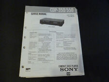 Original Service Manual Sony CDP-350/550