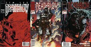 Deathblow #1-3 Newsstand Covers (1993-1996) Jim Lee Image Comics - 3 Comics