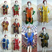 Wholesale Lot African Casual Women Hippy Short Kaftan Assorted 5pc Beach Dress