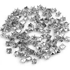 SQUARE PYRAMID STUDS WITH 4 PRONGS, 9MM X 9MM, GOLD OR SILVER, CHOOSE QUANTITY