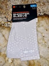 And1 Graphic Compression Basketball Shooter Sleeve White Grey New Mens L / Xl
