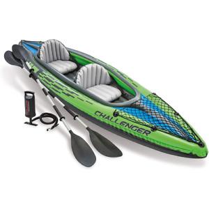 Intex 68306 Challenger k2 kayak inflatable canoe 351x76x38 cm 2 seats with oars