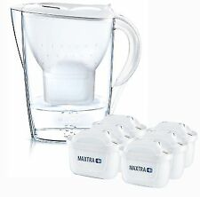 Brita Marella Cool Water Filter Jug and Cartridges Half Year Pack White