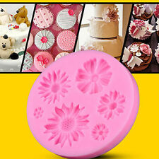 por ejemplo _ 3d Flor Pastel De Fondant Bricolaje Molde silicona Pasta Azúcar