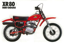 HONDA Poster XR80 VMX 1980 1981 1982 Suitable to  Frame