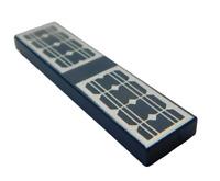 Lego 2 Stück Fliese 1x4 Solar Panele in dunkelblau 2431pb499 Solarzellen PV Neu
