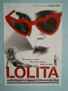 LOLITA   Japan B5 mini poster flyer chirashi R1994 Stanley Kubrick EX Rare