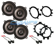 NEW SOUNDSTREAM 2-WAY FRONT AND REAR DOOR AUDIO SPEAKERS WITH MOUNTING BRACKETS