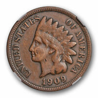 1909 S Indian Head Cent NGC VF 35 Very Fine to XF Key Date Original Cert#8005