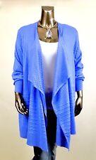 AVENUE *NWT 22/24 (3XL) BLUE LONG-SLV SOFT SWEATERS GARDIGAN $70