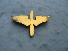 WWII US Air Corps Officer Prop and Wing Pin Home Front Jewelry WW2