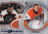 03-04 UD Ice Jeremy Roenick /25 PATCH Frozen Fabrics Flyers 2003