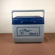 Vintage Gott Sportcooler 6 Hunting Fishing Ice Box Cooler #1806 Lunchbox