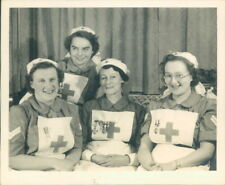 British Red Cross Society Nurse's Group Photo 1950's 3.5 x 3 inch