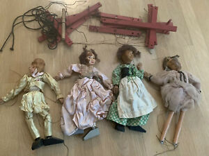 4 Hazelle's Marionettes  Ballerina, prince, princess, girl for parts/work