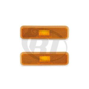 Front Side Marker Lights Reflectors Pair Set for 78-93 Dodge Omini/Horizon