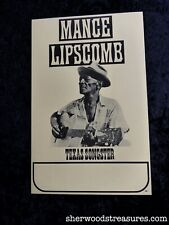 Blues Poster Mance Lipscomb Texas Songster Original 1965 Boxing Style Bluesman