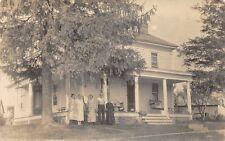 F47/ Jerusalem Ohio RPPC Postcard Monroe County Broom Residence Home