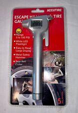 MS-4520 Digital Tire Pressure Gauge with Emergency Hammer, Seatbelt Cutter, LED