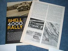 1964 Shell 4000 Rally Vintage Race Highlights Article Vancouver to Montreal