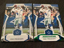 Dak Prescott 2019 Rookies & Stars #73 Base Card & Green Parallel