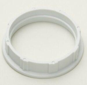 White Shade Ring for SES E14 Light Bulb Lamp holders with Threaded sleeve 27mm