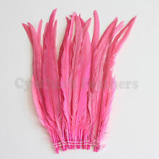 """25 pcs 14-16"""" long Candy Pink Dyed Rooster COQUE tail Feathers for crafting, NEW"""