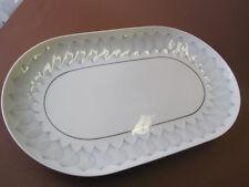 Grosse Platte oval Rosenthal Lotus Ballett Platinrand Björn Wiinblad  38,5 cm