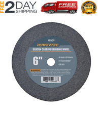 Powertec 6 inch 36 Grit Silicon Carbide Grinding Bench Grinder Disc Wheel Tool