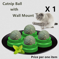 Cat Snack Catnip Ball Lick Solid Nutrition Ball Help Digestion Wall Mount H7fd