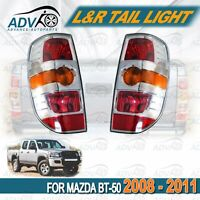 LH+RH Tail Lights For Mazda BT50 DX SDX Ute Pickup 2008-2011 Pair Chrome
