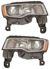 FITS JEEP GRAND CHEROKEE 2017-2018 RIGHT LEFT HEADLIGHTS HEAD LIGHTS LAMPS PAIR