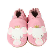 ROBeeZ Soft Flexible Leather Crib Shoe Girls Princess Prism - Mouse 18-24M NWB