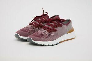 NWOB Brunello Cucinelli Men Cotton Knit Trademark Detailed Sneaker 42/8.5US A211