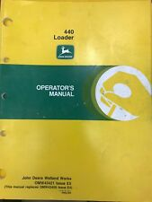 John Deere Operator's Manual 440 Loader #Omw43421 Used