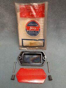 Jeep Jeepster Commando 67-71 NOS Passenger Right Rear Reflector Lens Kit 981289