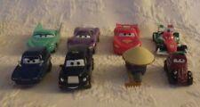 Disney Pixar Lot of 8 Cars Movie Lightning Green Purple Cars Assorted