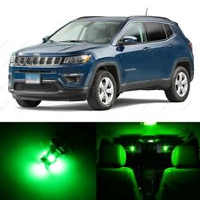 8 x Green LED Interior Light Package For 2007 - 2017 Jeep Patriot Compass + TOOL