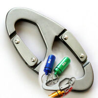5x Aluminum Snap Hook Clip Keychain Hiking Carabiner Bottle Scouts Buckle Tool