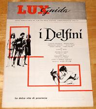 guida pubblicitaria LUX film I DELFINI Claudia Cardinale Gerard Blain 1960