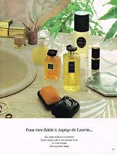 PUBLICITE ADVERTISING 014   1974   LANVIN  parfums ARPEGE savons cosmétiques