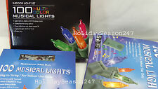 100 Musical Lights Multi Color Play 25 Christmas Carols Holiday Music Decoration