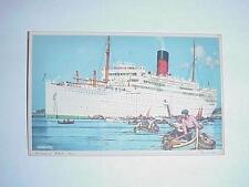 Carinthia Ocean Liner PostCard Cunard White Star Made England
