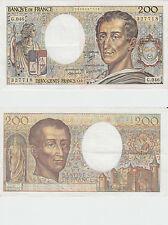 Gertbrolen  200 Francs MONTESQUIEU  Année 1987  G .046 Billet N° 0906327718