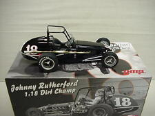 RUTHERFORD JOHNNY 1-18 #18 GMP CAGED OPEN WHEEL METAL DIRT CHAMP CAR S/OUT