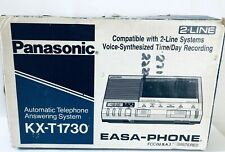 Vntg Panasonic Easa Phone 2 Line Answering Machine KX-T1730 Woodgrain Retro 70s