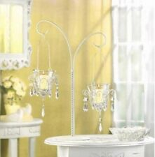 """12 Votive Candle Holder Stands w/ Hanging Jeweled Candle Cups 17"""" High"""