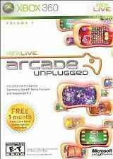 NEW! Xbox Live Arcade Unplugged Vol. 1 with 1 month Xbox Live GOLD  (Xbox 360)