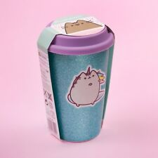 Pusheen the Cat Unicorn Travel Mug - Glitter Aqua - Officially Licensed